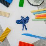 Office supplies, plasticine in stationery store