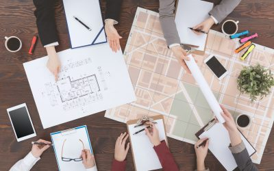 Workers of real estate agency